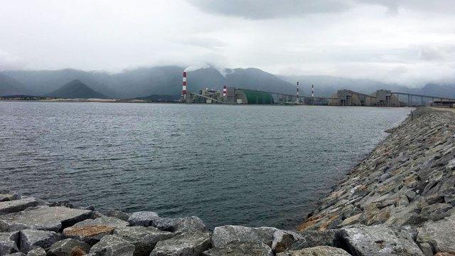 Bãi tro xỉ phía giáp biển nhà máy Formosa Hà Tĩnh. Hiện vẫn chưa tiến hành đổ thải