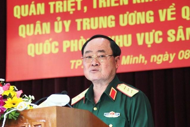 Thượng tướng Trần Đơn phát biểu tại hội nghị. Ảnh: TÁ LÂM