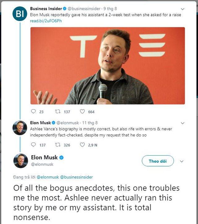 Musk chia sẻ về câu chuyện sa thải trợ lý trên Twitter