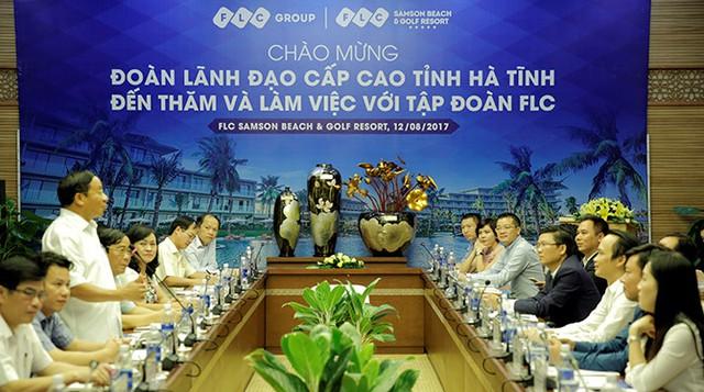 Chủ tịch Hà Tĩnh: Tập đoàn FLC hãy tận dụng cơ hội, sớm triển khai dự án trên địa bàn tỉnh - ảnh 2
