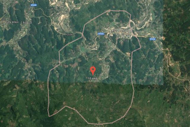 Vụ nổ bom xảy ra tại thôn Tà Lương, thị trấn Tô Hạp, huyện Khánh Sơn. Ảnh đồ họa: Vietnamnet