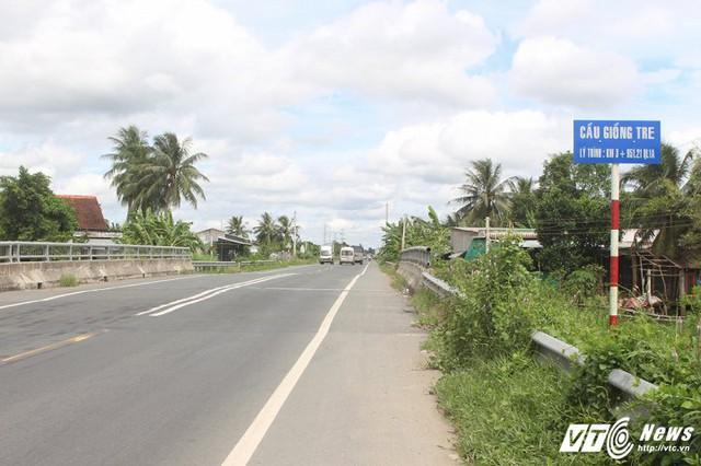 Một trong những cây cầu được xây dựng trên tuyến tránh Cai Lậy.