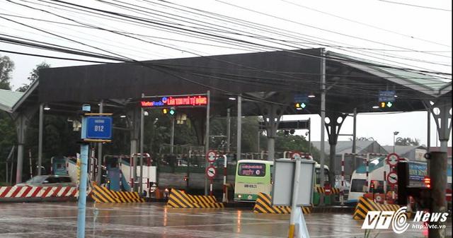 Trạm thu phí Biên Hòa đặt trên Quốc lộ 1.