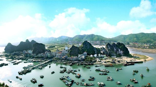 Huyện đảo Vân Đồn, tỉnh Quảng Ninh. Ảnh: halong.gov.vn