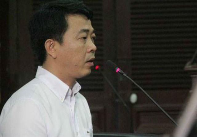 Ông Nguyễn Minh Hùng tại phiên tòa sơ thẩm mới đây