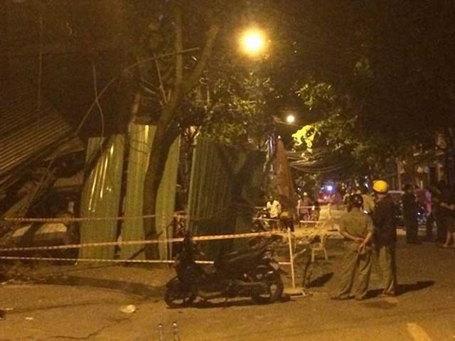 Hiện trường vụ sập nhà ở đường Tân Sơn Hòa (phường 2, quận Tân Bình, TP.HCM) vào tối 2-9. Ảnh: NT