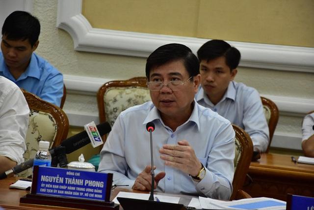 Chủ tịch UBND TP Nguyễn Thành Phong phát biểu tại cuộc họp ngày 5-9