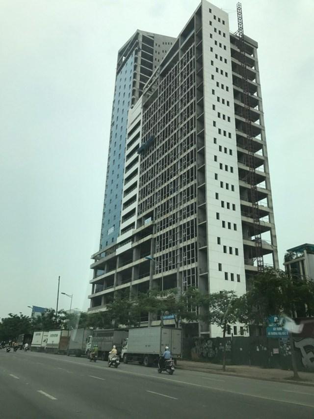 Khu liên cơ quan hành chính Hà Nội đang hoàn thiện trên đường Võ Chí Công.