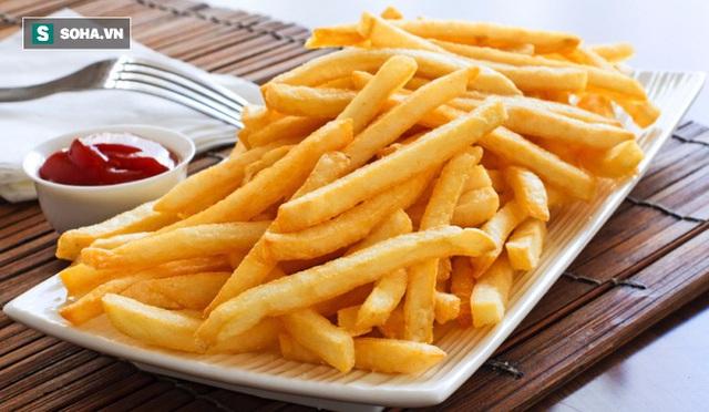 Khoai tây chiên cung cấp tới 1100 calo và gần 50 gram chất béo.