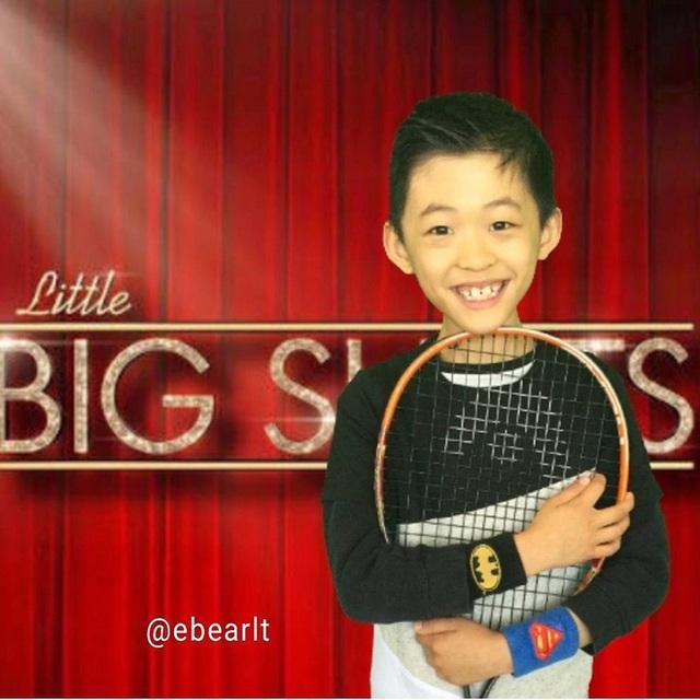 Hình ảnh của cậu bé Evan trên chương trình Little Big Shots phiên bản Australia.
