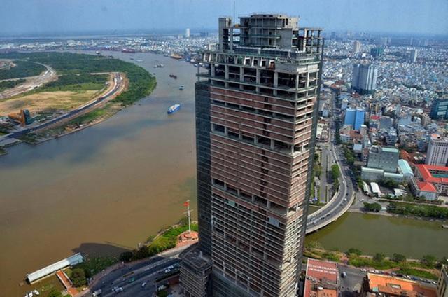 Dự án cao ốc Sài Gòn M&C đã bị VAMC thu giữ để bán đấu giá thu hồi nợ Ảnh: TẤN THẠNH