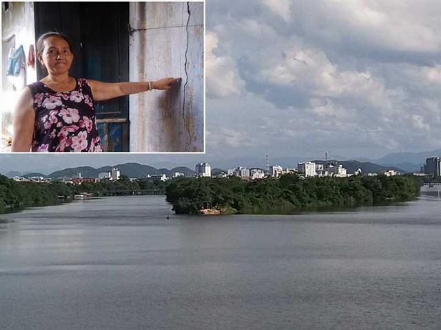 """20 năm nay, khu vực Cồn Hến vẫn đang là khu quy hoạch """"treo"""". Nhiều nhà dân bị hư hỏng, xuống cấp nhưng không dám xây mới . Ảnh: NGUYỄN DO"""