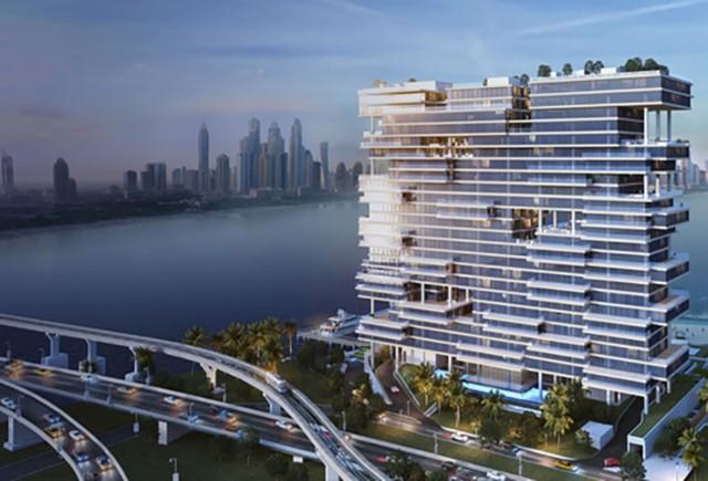 Căn hộ sang trọng này là một trong ba căn penthouse ba tầng trong tòa nhà, căn hộ có 5 phòng tắm và một số khu vực chức năng. Có diện tích 2768m2.