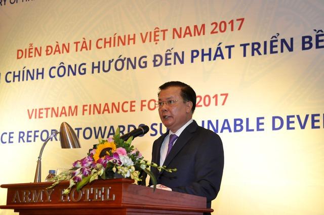 Bộ trưởng Bộ Tài chính Đinh Tiến Dũng. VGP/Huy Thắng