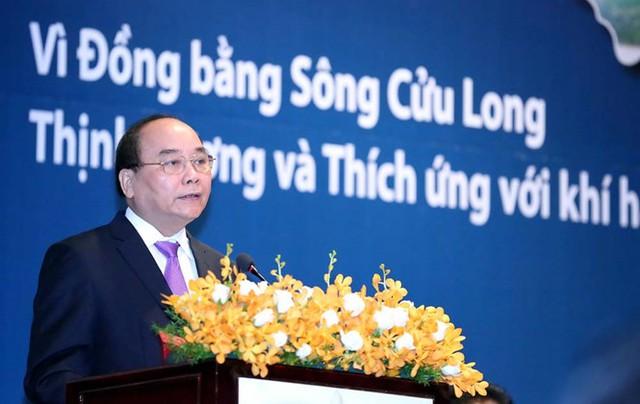 Thủ tướng Nguyễn Xuân Phúc phát biểu tại Diễn đàn ĐBSCL 2016, ngày 27/6, tại TPHCM.