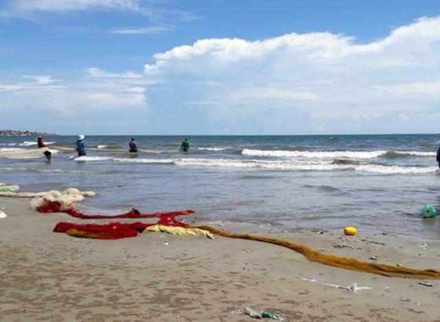 Vùng biển Vĩnh Tân, nơi xảy ra hiện tượng cá chết