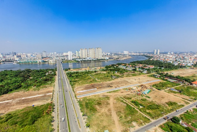 Dự án BT 4 tuyến đường chính Khu đô thị mới Thủ Thiêm đang được Công ty Đại Quang Minh gấp rút hoàn thành