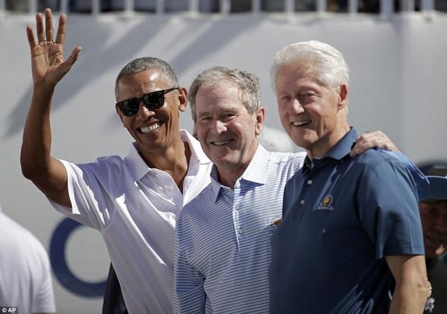 Ba vị cựu Tổng thống Mỹ cùng xuất hiện trong giải đấu golf Tổng thống.