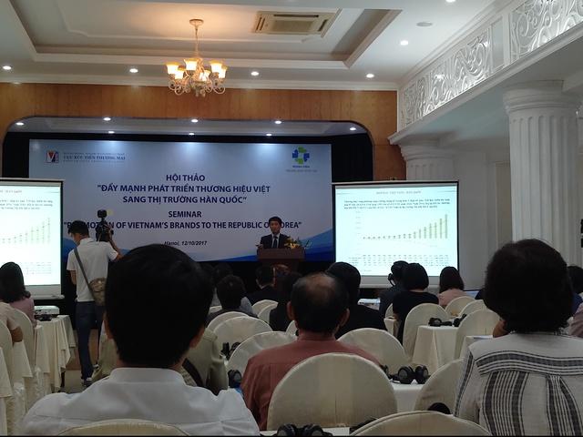 Hội thảo Đẩy mạnh phát triển thương hiệu Việt sang thị trường Hàn Quốc