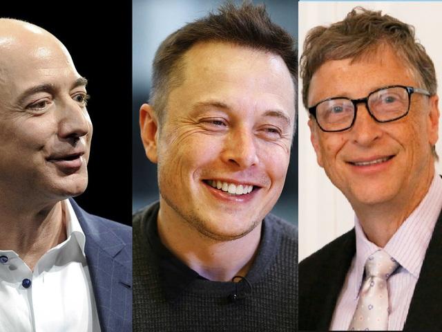 Từ trái qua phải: Jeff Bezos, Elon Musk vàBill Gates có 4 điểm chung giúp họ thành công như ngày hôm nay.