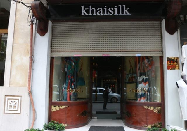 Cửa hàng tại Hà Nội của Tập đoàn Khaisilk - Ảnh: Huy Thanh
