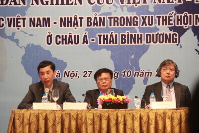 Ông Võ Trí Thành, ông Nguyễn Đình Cung và ông Shujiro Urata (Ảnh: Nguyễn Thắm)
