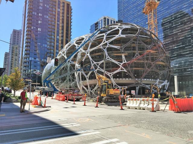 Trụ sở hiện tại của Amazon ở thành phố Seattle, Washington, Mỹ.