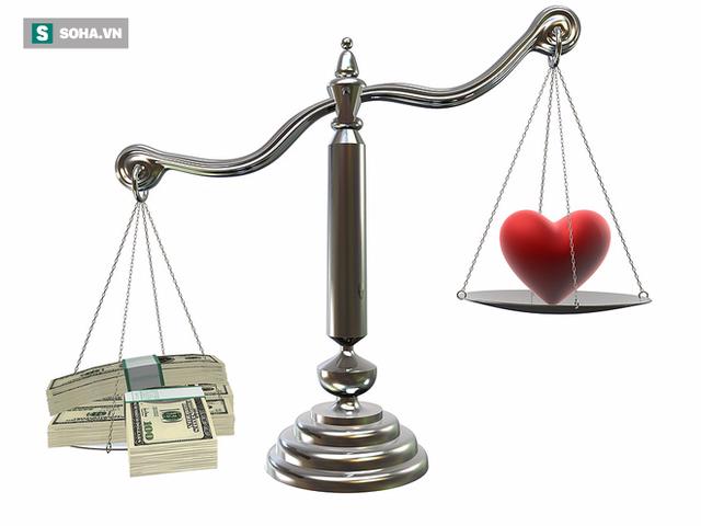 Tình yêu sẽ chẳng còn những giá trị thiêng liêng vốn có nếu bạn đặt nó lên bàn cân với tiền bạc. (Ảnh minh họa: Nguồn Internet).