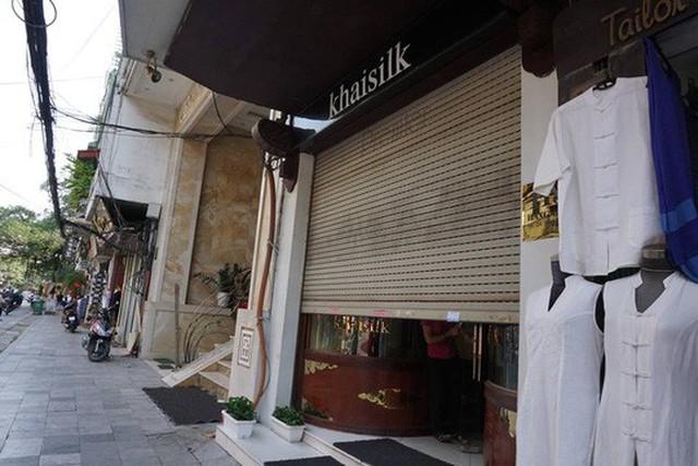 Cửa hàng Khaisilk tại phố Hàng Gia, Hoàn Kiếm, Hà Nội- Ảnh: Minh Chiến