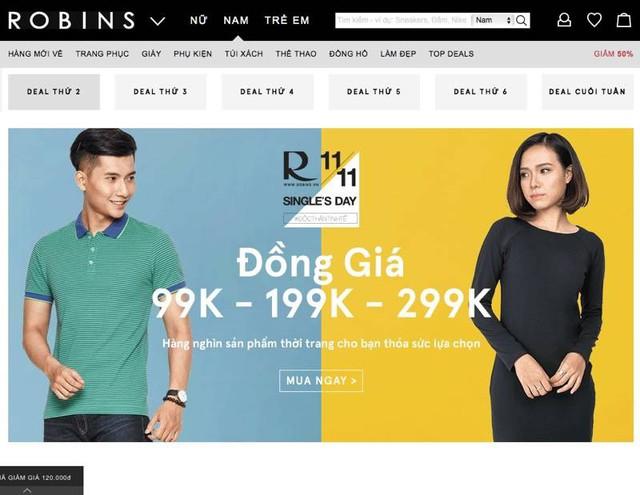 Một chương trình giảm giá mua sắm khởi động từ đầu tháng 11 - Ảnh chụp màn hình