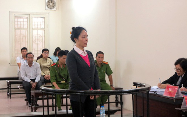Bị cáo Phan Thúy Mai tại phiên xử.