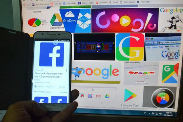 Bộ Tài chính đề nghị nhiều bộ, ngành cùng vào cuộc để quản lý thuế với các doanh nghiệp nước ngoài cung cấp dịch vụ thương mại điển tử tại Việt Nam như Facebook, Google... Ảnh: TẤN THẠNH