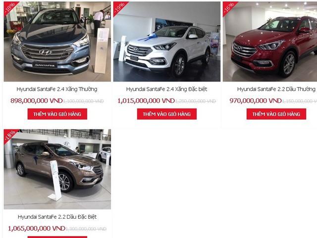 Giá xe Hyundai Santa Fe giảm mạnh tháng 11. Ảnh: Lâm Anh