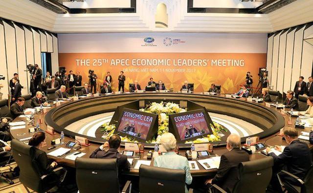 Phiên họp của các nhà Lãnh đạo kinh tế APEC ngày 11-11 - Ảnh: APECVIETNAM
