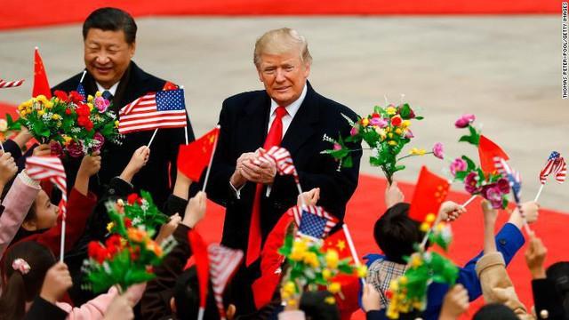 Tổng thống Mỹ Donald Trump trong chuyến thăm Trung Quốc gặp Chủ tịch Tập Cận Bình
