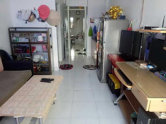 Bên trong căn hộ có diện tích nhỏ của Công ty Xây dựng Lê Thành với tiện nghi tối thiểu cho gia đình nhỏ sinh sống. Ảnh: THÙY LINH