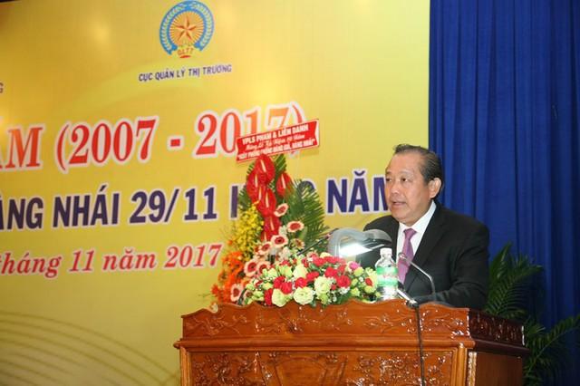 Phó thủ tướng Thường trực Trương Hòa Bình, Trưởng Ban chỉ đạo 389 quốc gia biểu tại Lễ kỷ niệm