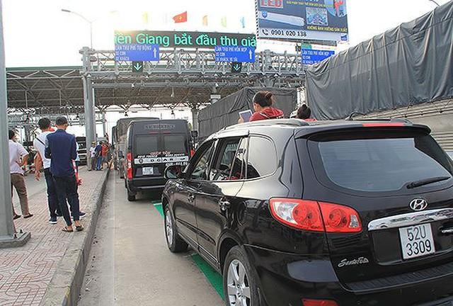 BOT Cai Lậy liên tiếp bị thất thủ vì lái xe phản đối