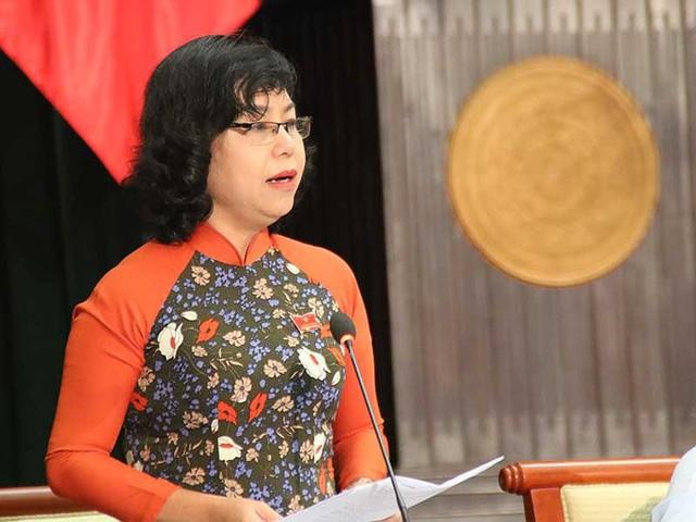 Đại biểu Trần Hải Yến cho biết quy hoạch treo làm quyền lợi của người dân bị hạn chế. Ảnh: TÁ LÂM