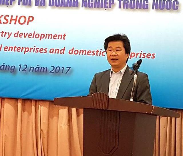 Ông Đỗ Nhất Hoàng, Cục trưởng Cục Đầu tư nước ngoài phát biểu.Ảnh:VGP/Huy Thắng