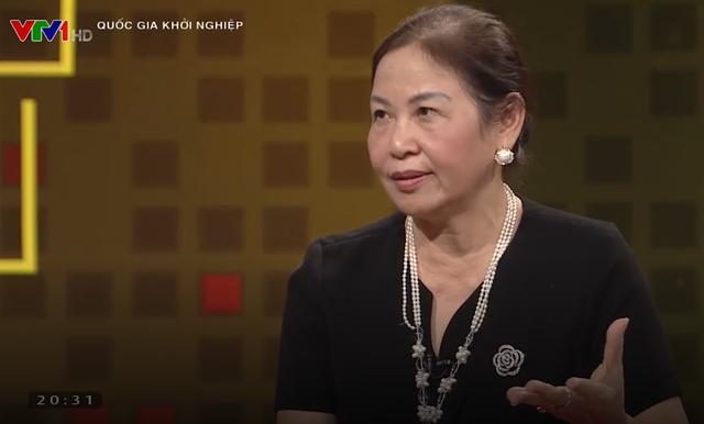 Bà Vũ Thị Thuận - Chủ tịch HĐQT Traphaco - trong chương trình Quốc gia Khởi nghiệp.