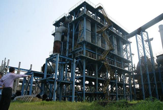 Dự án mở rộng nhà máy gang thép Thái Nguyên đắp chiếu (Ảnh Tiền Phong)
