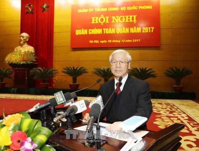 Tổng Bí thư Nguyễn Phú Trọng, phát biểu chỉ đạo Hội nghị - Ảnh: TTXVN