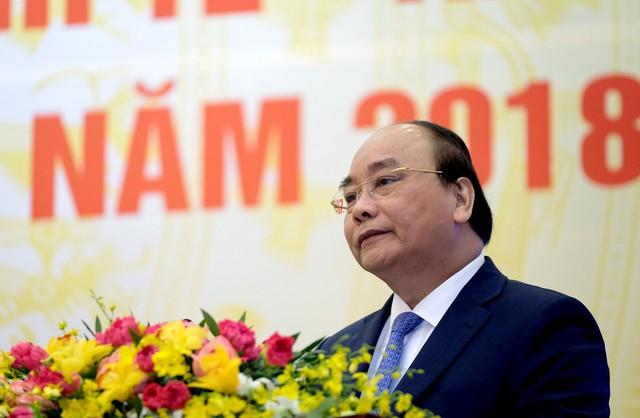Thủ tướng Nguyễn Xuân Phúc phát biểu tại Hội nghị Chính phủ với các địa phương - Ảnh: VGP/Quang Hiếu
