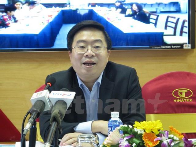 Ông Lê Tiến Trường, Tổng Giám đốc Tập đoàn Dệt may Việt Nam. (Ảnh: Đức Duy/Vietnam+)