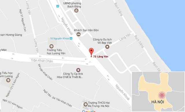 Phóng to Nơi xảy ra vụ việc. Ảnh: Google Maps.