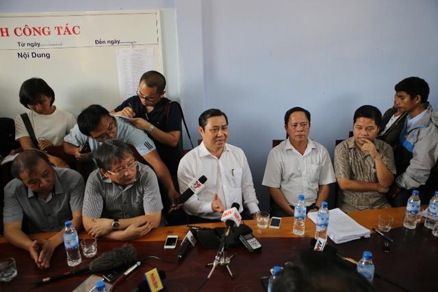 Trả lời trước các cơ quan báo chí về tình hình của Dự án Khu du lịch Sinh thái Biển Tiên Sa.