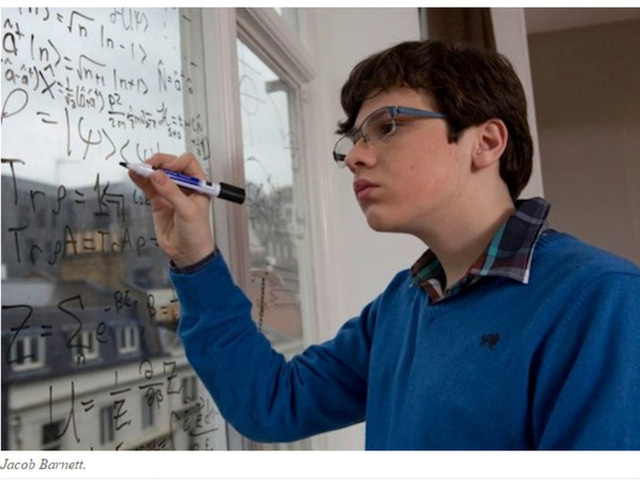 Jacob bây giờ đã là một thần đồng với chỉ số IQ được cho là còn cao hơn của Einstein.