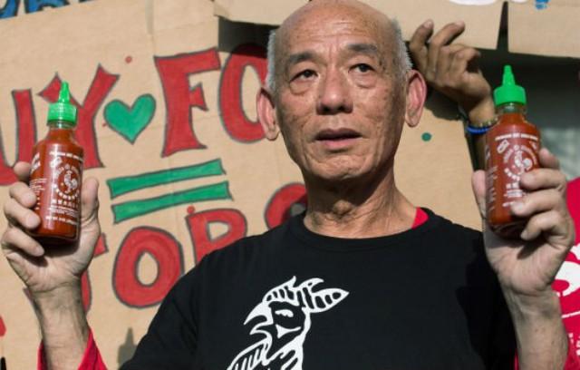 Ông David Tran, nhà sáng lập loại tương ớt Sriracha, mộtngười Mỹ gốc Việt.