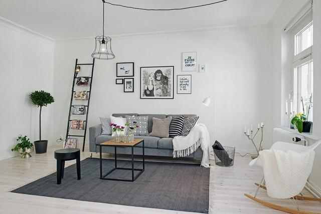 Với diện tích 63m² căn hộ vẫn tạo ra được những không gian dành riêng cho phòng khách, nhà bếp và phòng ngủ, khu vệ sinh.